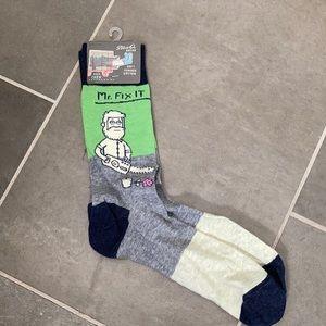 Mr. fix-it socks blue Q new